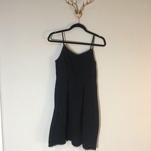 old navy black eyelet embroidered dress